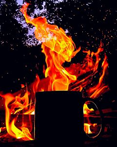 freetoedit remixit coffee campfire flames