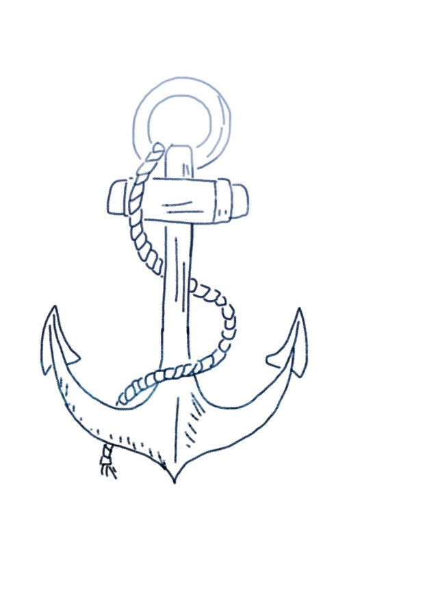 #freetoedit #anchor #blue #overlay #sketched
