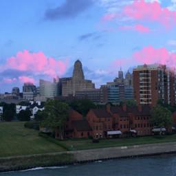 freetoedit clouds sky cityscape buildings