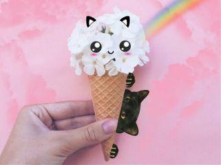 remixit icecream catlover freetoedit
