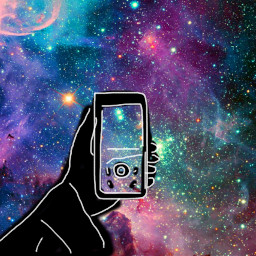 freetoedit hand camera galaxy sketched