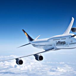 lufthansa travel sky airplane freetoedit