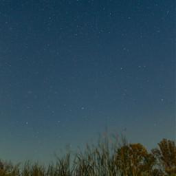nature night sky stars blue