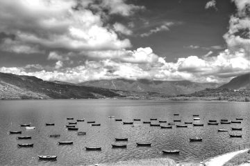 freetoedit blackandwhite lake boats