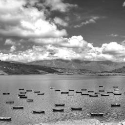 freetoedit blackandwhite lake boats