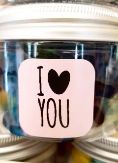 freetoedit candies message iloveyou love
