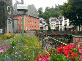 medieval town travel architecture nature