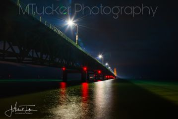 bridges travel mackinacbridge nightphotography michigan