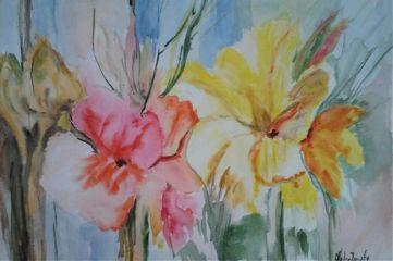 freetoedit watercolor handmade flowers