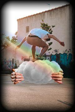 freetoedit surrealistic surrealart cloud rainbowlight