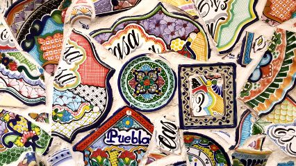 freetoedit colorful mosaic dishes mexico