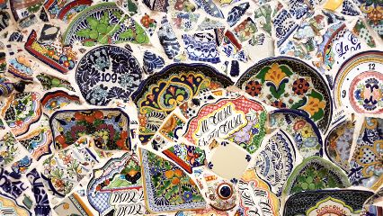 freetoedit mosaic colorful dishes mexico