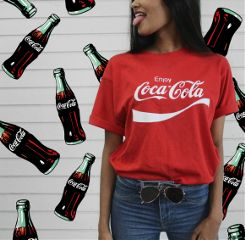 freetoedit girl cocacola red cool