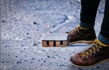 freetoedit giant feet house snow