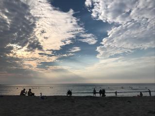 freetoedit sunset sky clouds beach