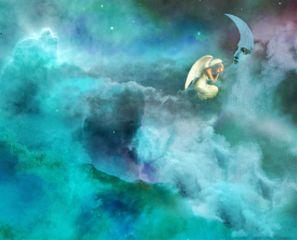 freetoedit angel moon clouds publicdomainimage