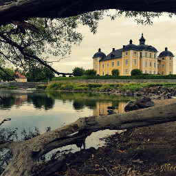 freetoedit pcfacades facades castle lake pctree