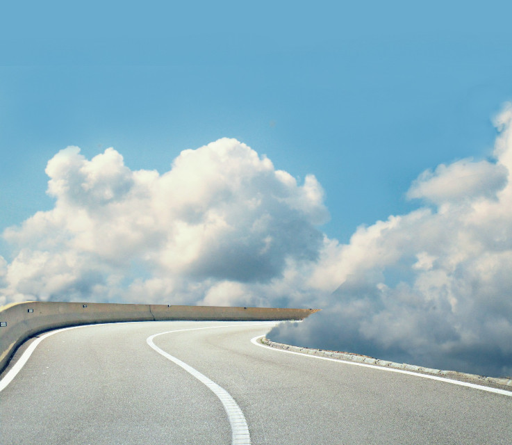 #sky #clouds #blue #road #myedit #creative #artistic