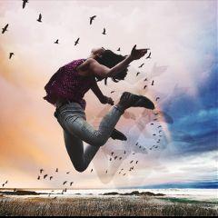 levitate jumphighremix doubleexposure jump walkinthewoods freetoedit