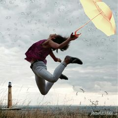 freetoedit dailyremix lighthouse umbrella raindrops