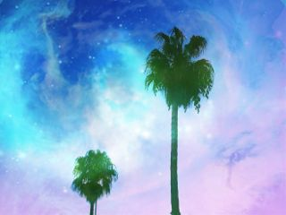 freetoedit tree space colors sky