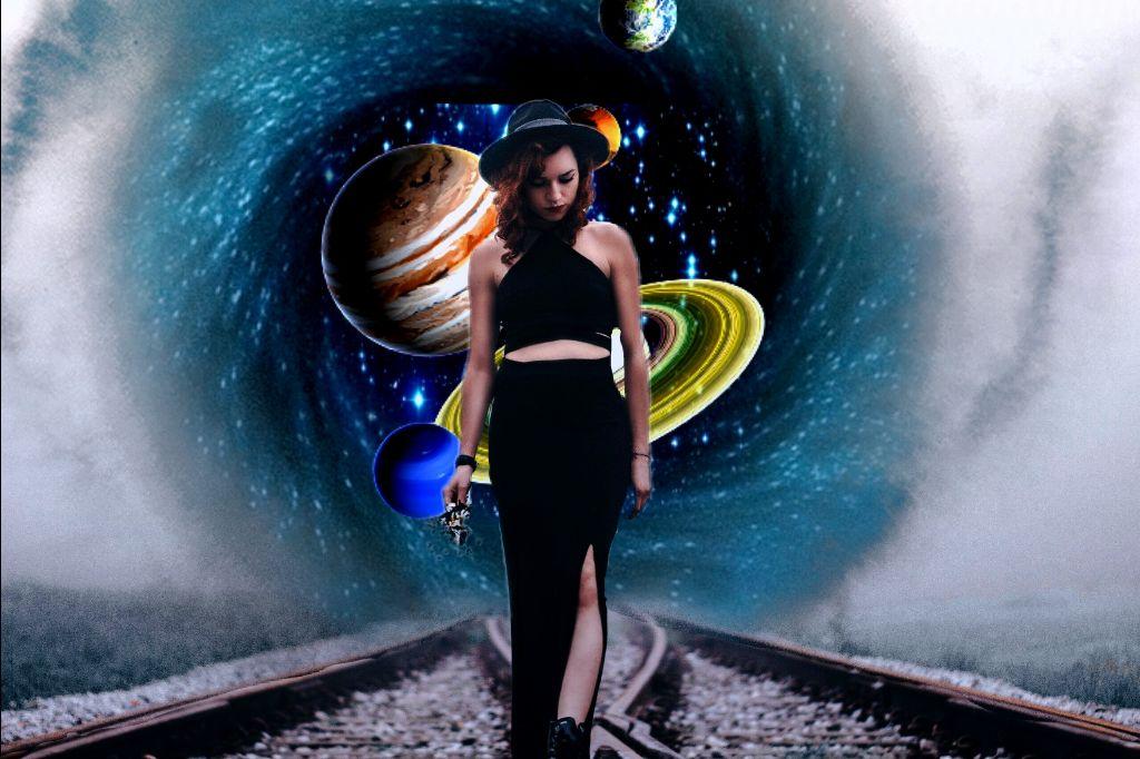#woman #galaxy #planets #surrealistgate