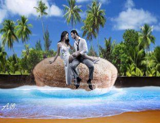 freetoedit nature beachscene remixedbyme romanceonanisland