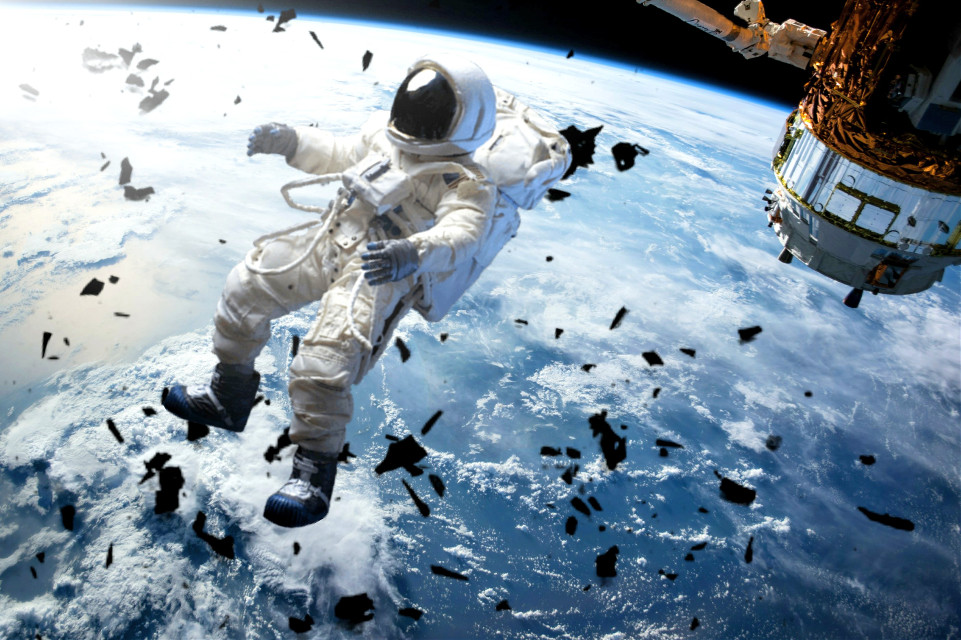 #space #spaceman #photography #earth #astronaut #debris #surealism #glare #planet #beautiful #floating #pa #picsart