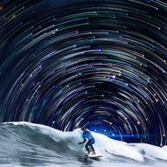 freetoedit galaxy galaxybackgrounds startrails surfing