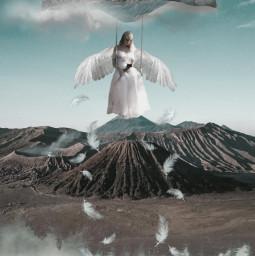 swing bird girl angel tress freetoedit