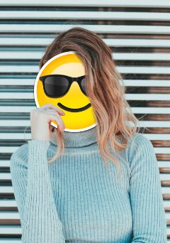 freetoedit emoji glasses girl