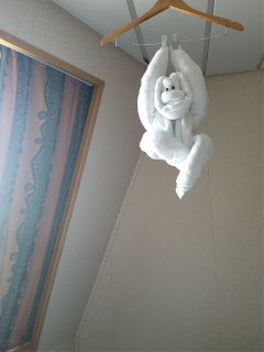 freetoedit towel hanging monkey boat