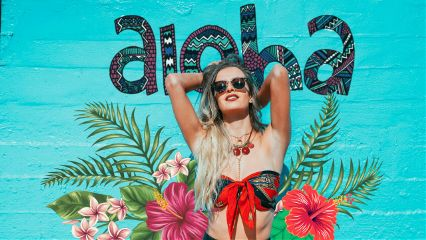 girl summer aloha hawaii flowers freetoedit