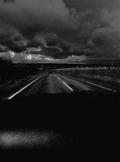 freetoedit blackandwhite road dark night