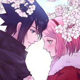 sasusaku love anime friendsforever freetoedit
