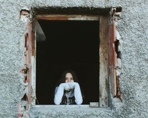 photography abandoned window girl people freetoedit