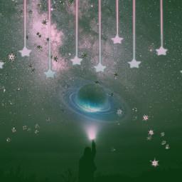 freetoedit popart colori3 space planet