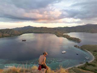 colorful hill komodo island indonesia