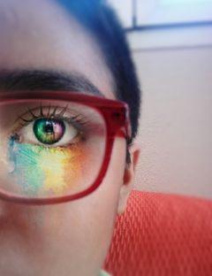 ojos arcoiris🌈 arcoiris