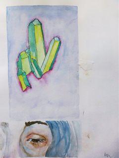 crystal watercolor eye painting freetoedit
