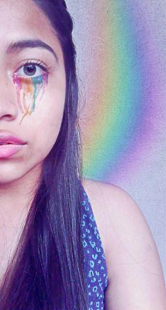 freetoedit arcoiris rainbow girl insideofme
