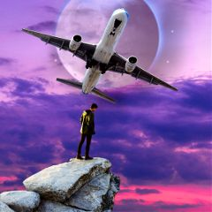 freetoedit surreal airplane planet