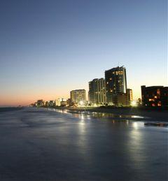 nightfall beach longexposure