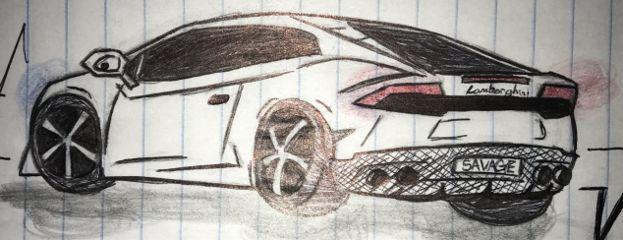 sketch car color myart interesting