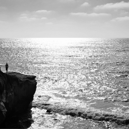 ocean blackandwhite photography sandiego california