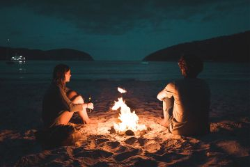 freetoedit bonfire couple romantic love