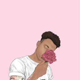 rosegold pink art wallpaper