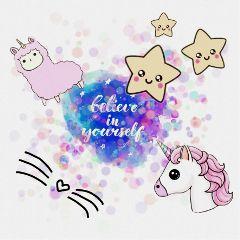 believeinyourself believe cute kawaii stars freetoedit