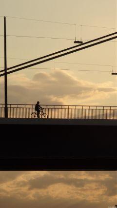 nofilter bridge bicicle city sunsetsilhouette