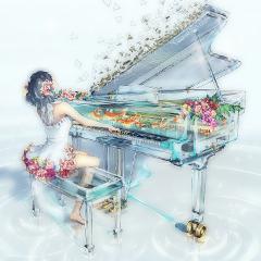 freetoedit 綺麗 ピアノ